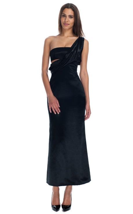 VINTAGE GIANNI VERSACE Black Sari Inspired Gown 3