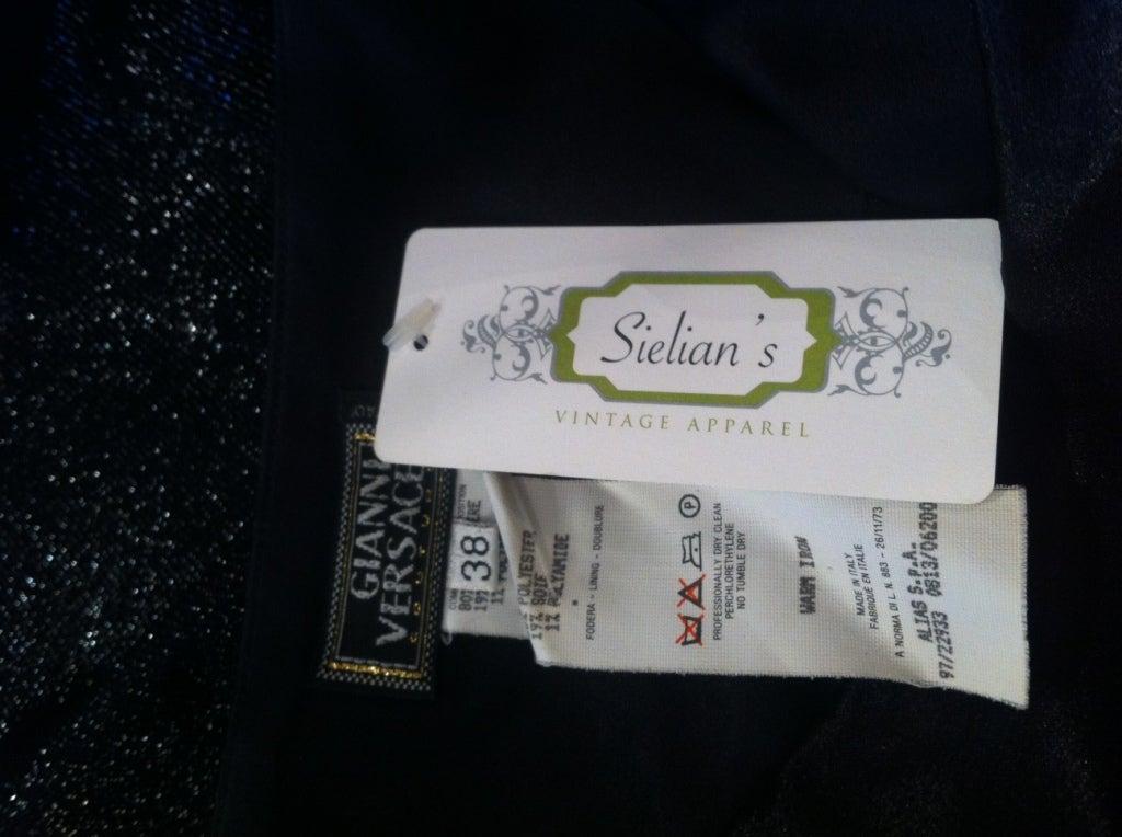 VINTAGE GIANNI VERSACE Black Sari Inspired Gown 5