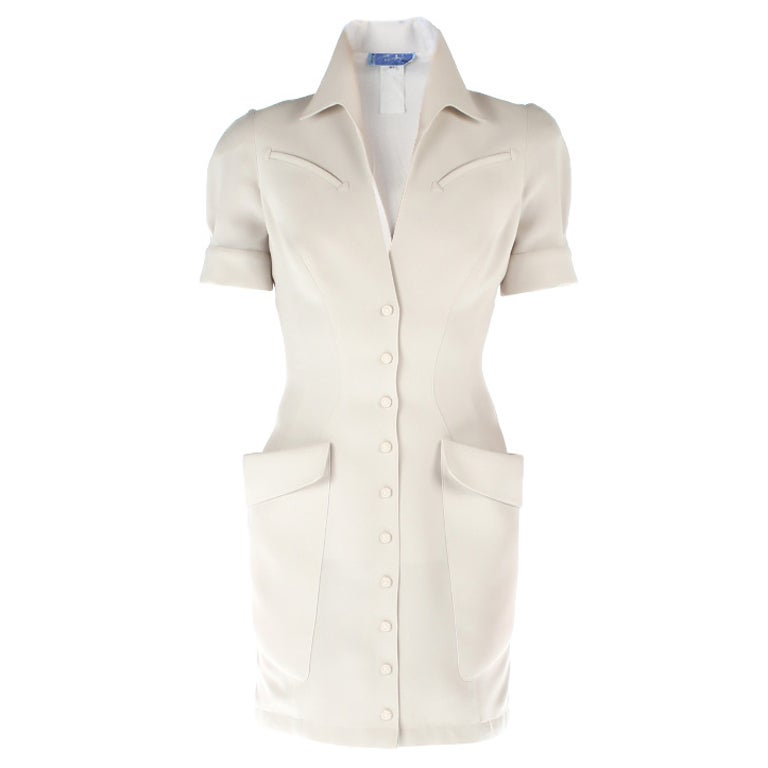 Thierry Mugler white mini dress