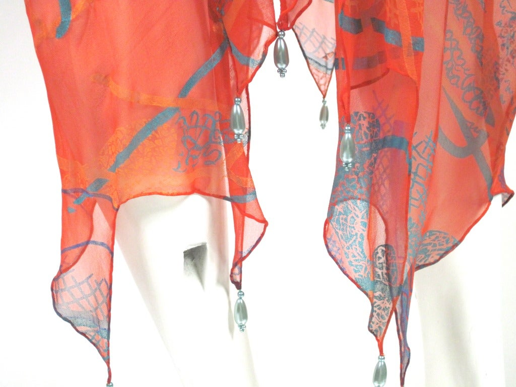 """Women's ZANDRA RHODES  caftan from spring 1976 """"The Mexican Collection"""". For Sale"""