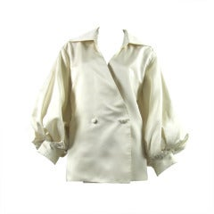 CHRISTIAN DIOR (numbered) silk blouse