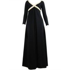 1970s Rudi Gernreich black and creme knit dress