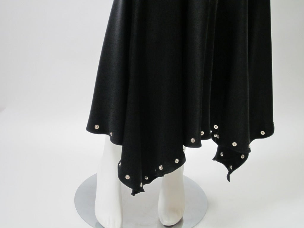 Women's Vintage  1990s John Galliano Black Bias Cut Silk Charmeuse Gown For Sale