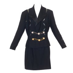 Gianni Versace Couture Slashed and Safety Pinned Suit