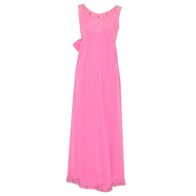 1960s italian haute couture bubblegum pink beaded gown at for 1960 s haute couture