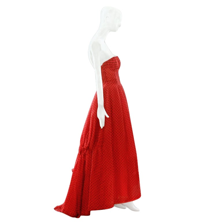 Spring summer 1954 christian dior silk ball gown at 1stdibs for Dior couture dress price