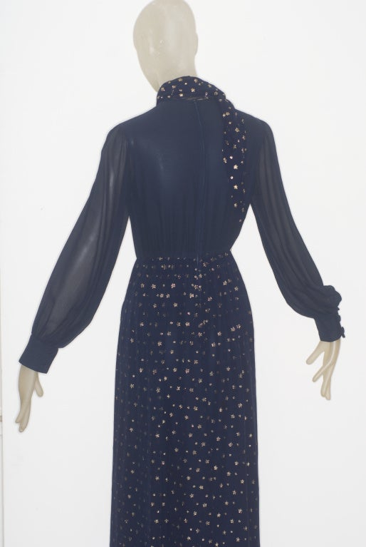 1970s valentino haute couture 39 stars 39 dress at 1stdibs for Haute couture dress price