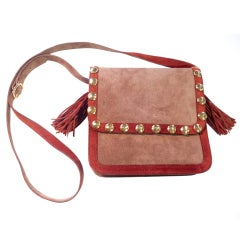 Yves Saint Laurent rive gauche Studded and Fringed Bag