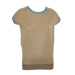 A Rare Early 1970s Gianni Versace Knit Top with Gold Thread
