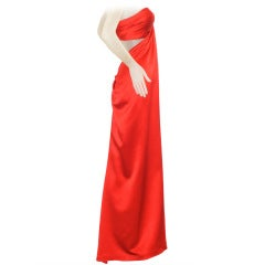 Carolyne Roehm Open Back Strapless Gown