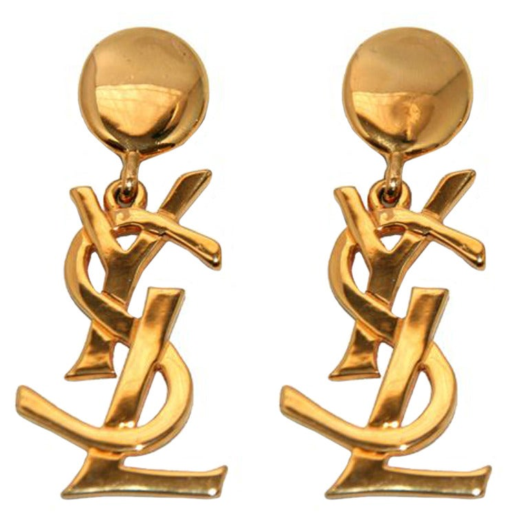 The Authentic & Highly Collectable YSL Earrings 1980 1