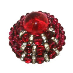 Beautiful French Couture Louis Rousselet Brooch 1950