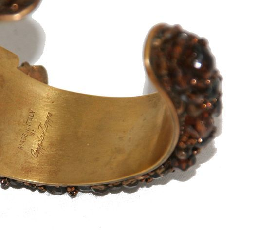 Women's Rare Coppola e Toppo cuff The Glamour Italian Designer 50s For Sale