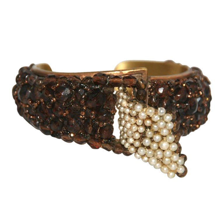 Rare Coppola e Toppo cuff The Glamour Italian Designer 50s For Sale