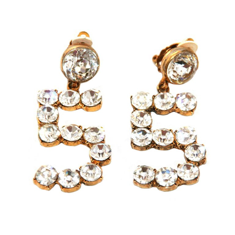 Exceptional Chanel N 5 Earrings For