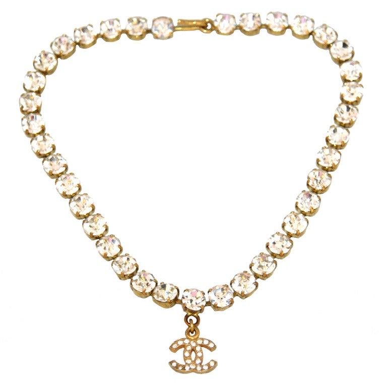 Crystal Vintage Chanel Necklace 1995 1