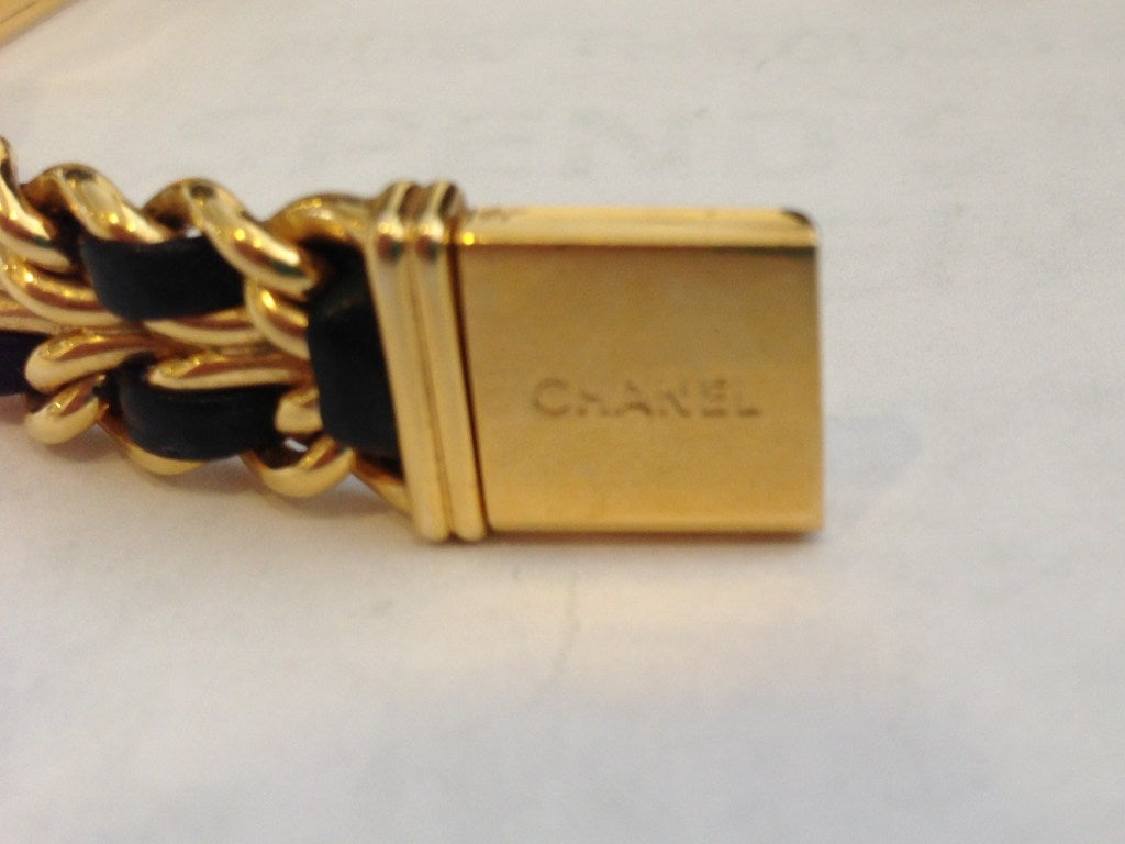 Chanel Gold And Black Chain Watch 4