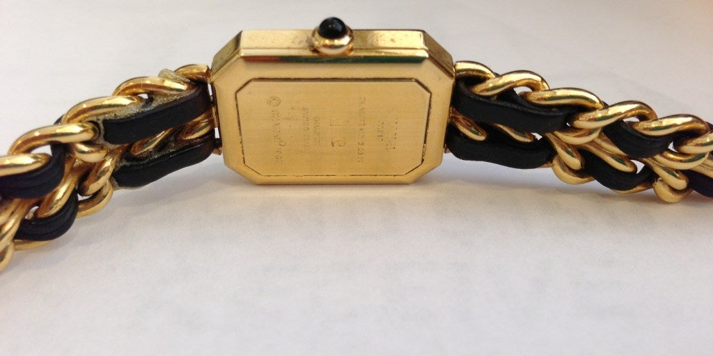 Chanel Gold And Black Chain Watch 5