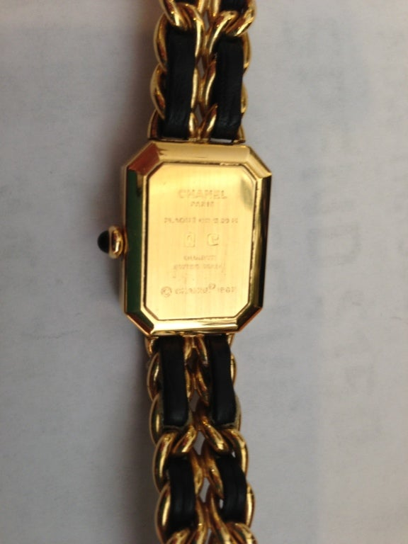 Chanel Gold And Black Chain Watch 6