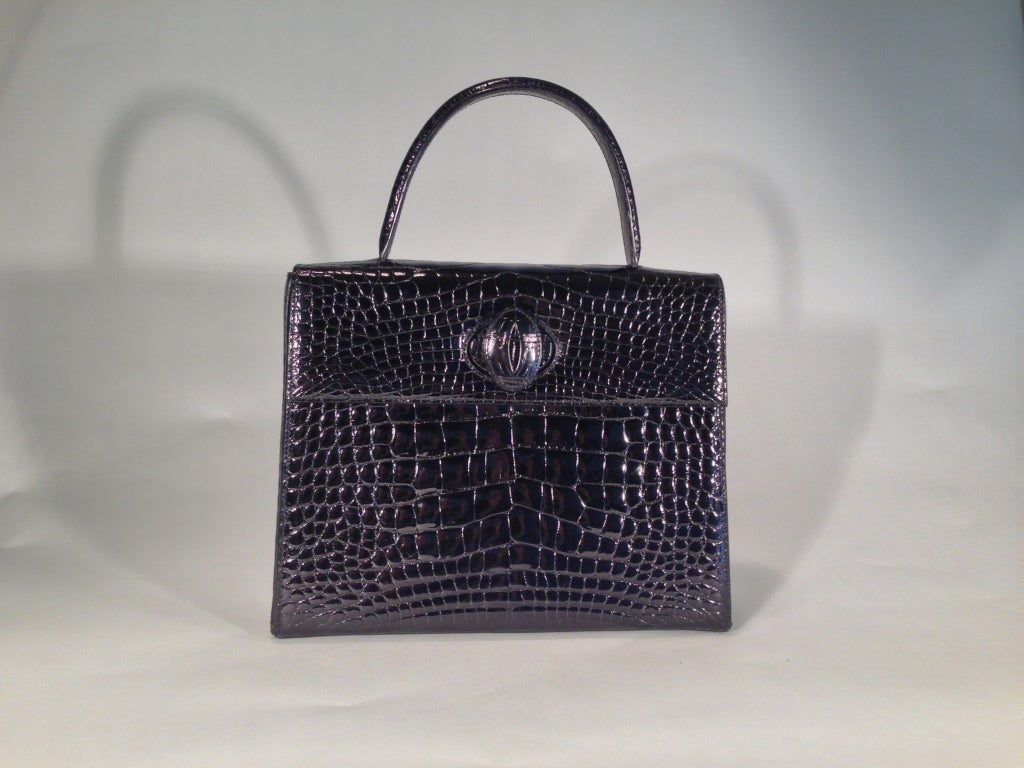 Cartier crocodile handbag 8