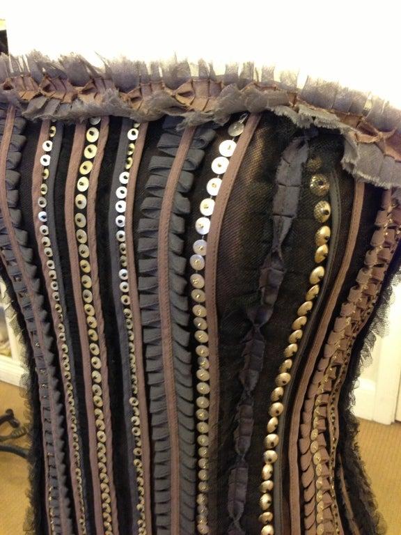 Carolina Herrera Strapless Metal Sequins Gown 3