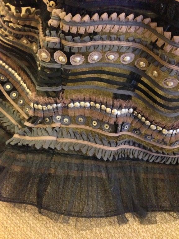 Carolina Herrera Strapless Metal Sequins Gown 5