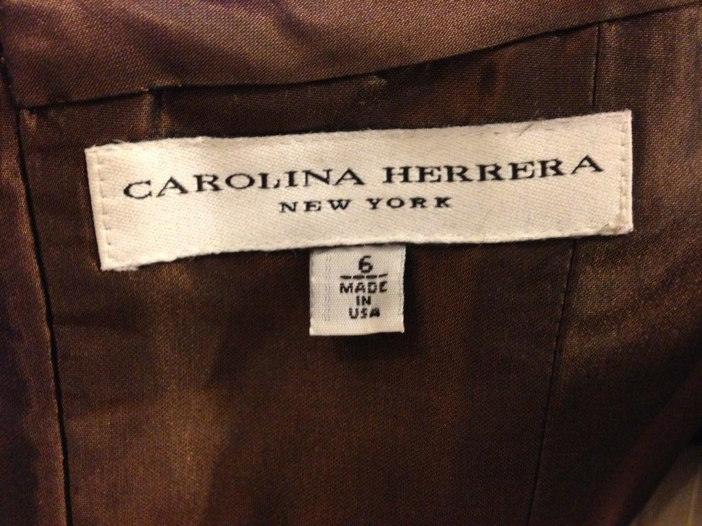 Carolina Herrera Strapless Metal Sequins Gown 10