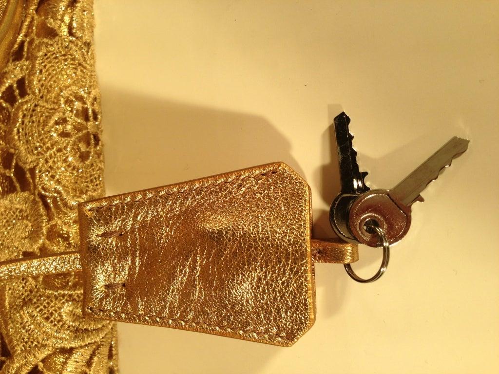 Prada Gold Lace Purse 10
