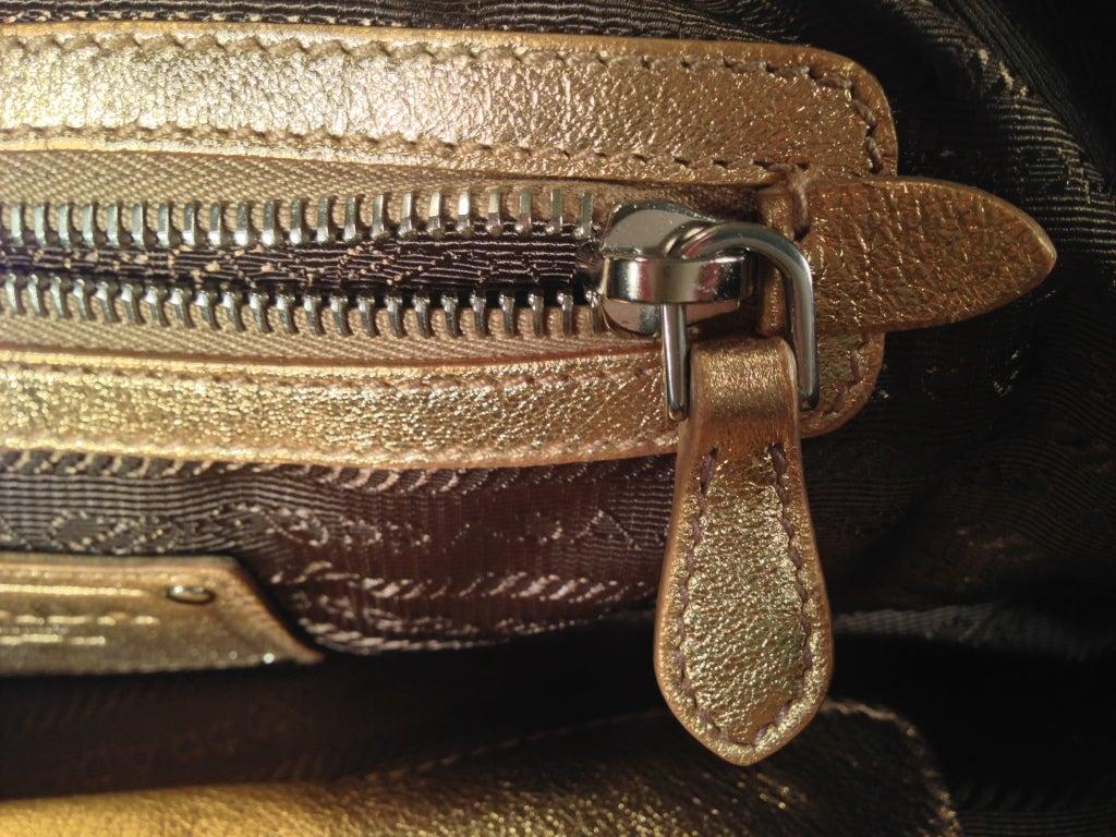 Prada Gold Lace Purse 7