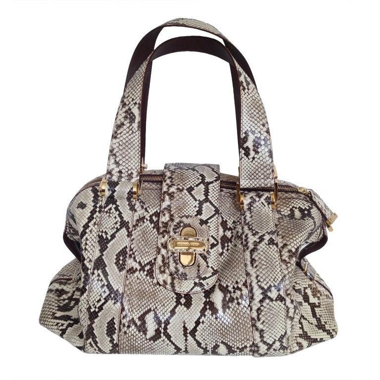 Michael Kors Large Python Bag For Sale at 1stdibs 1a2b254c1