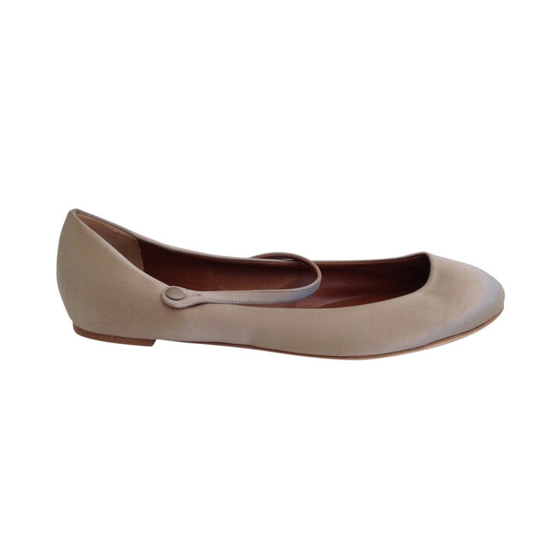 Marni Champaigne Satin Mary Jane Ballet Flat At 1stdibs