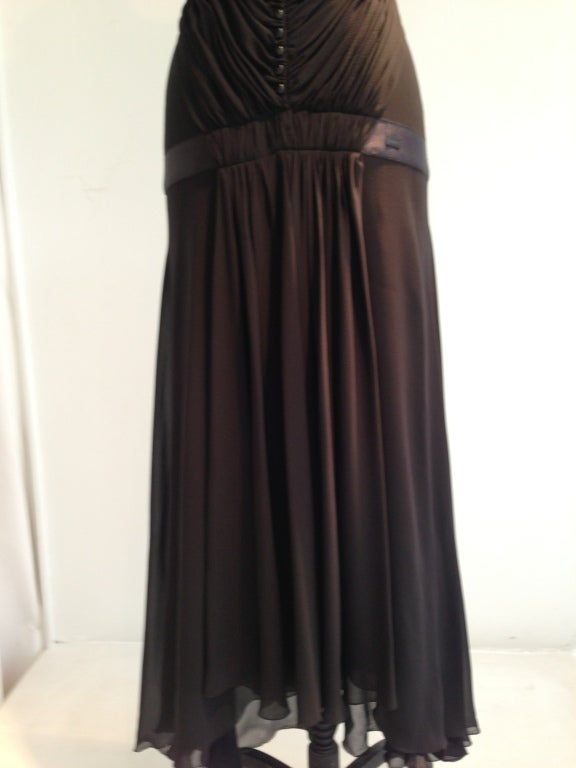 Chanel Pleated Black Gown image 6
