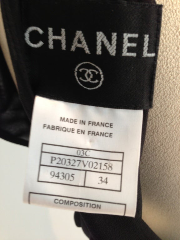 Chanel Pleated Black Gown image 8