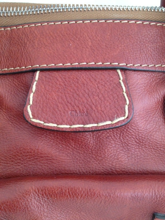 Chloe Terra Cotta Leather \u0026quot;Edith\u0026quot; Handbag at 1stdibs