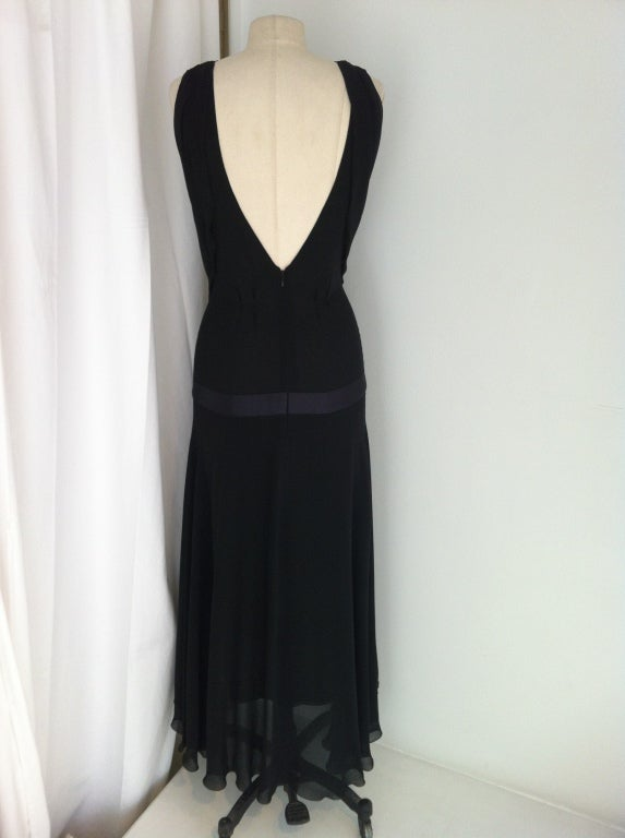 Chanel Pleated Black Gown image 3