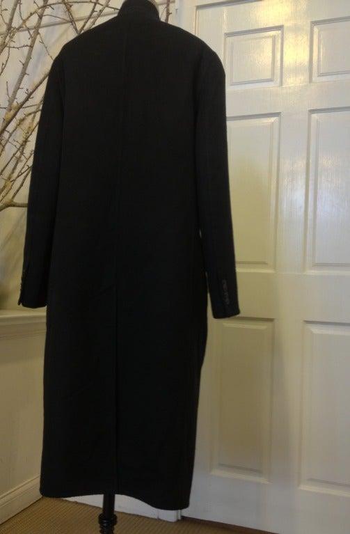Hermes Black Cashmere Coat 3