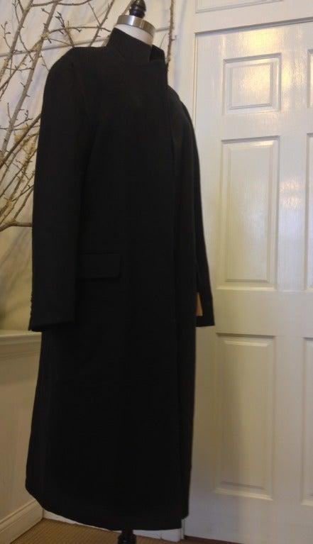 Hermes Black Cashmere Coat 4