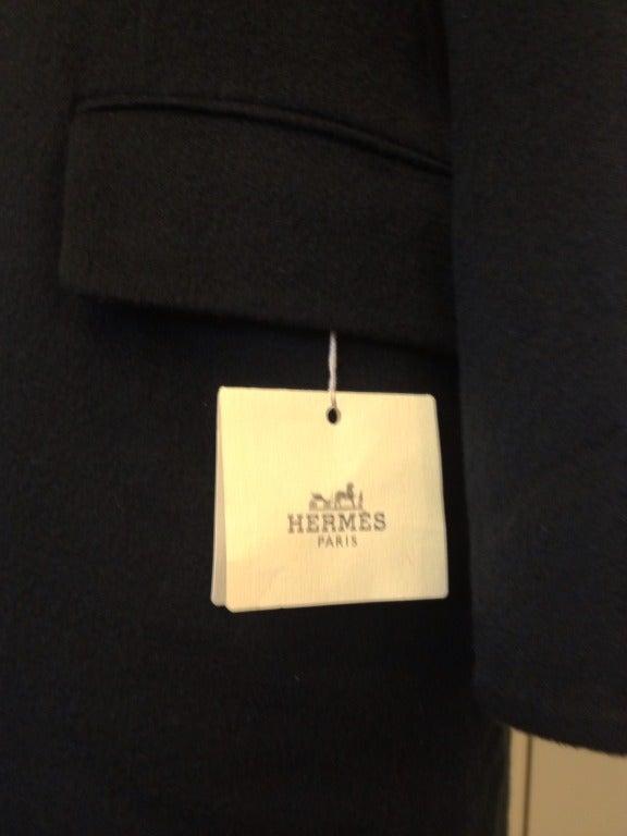 Hermes Black Cashmere Coat 5