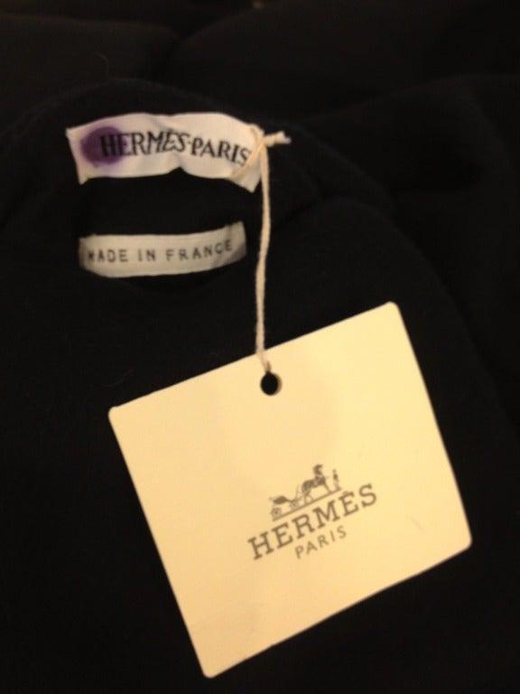 Hermes Black Cashmere Coat 6