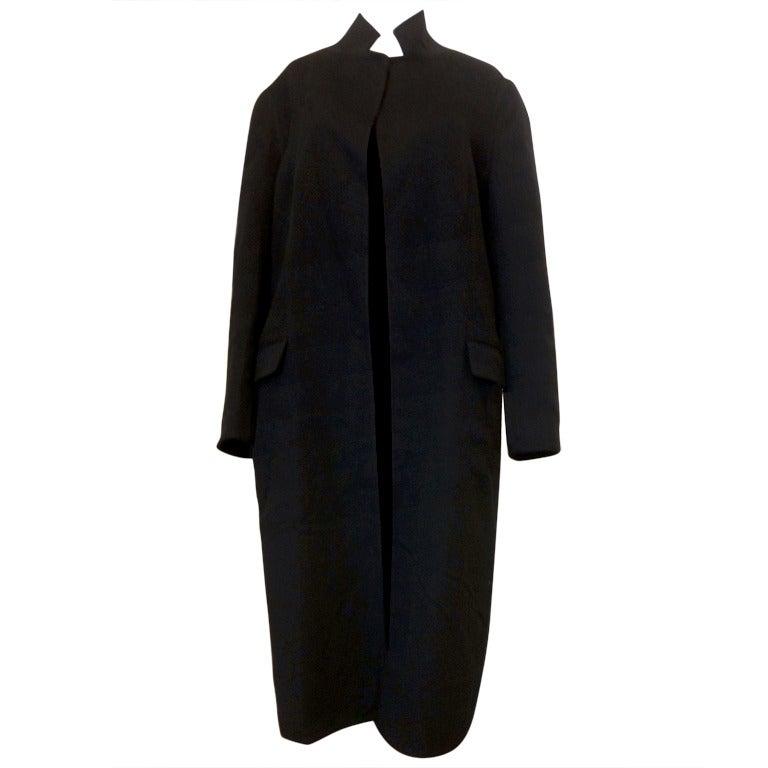 Hermes Black Cashmere Coat 1