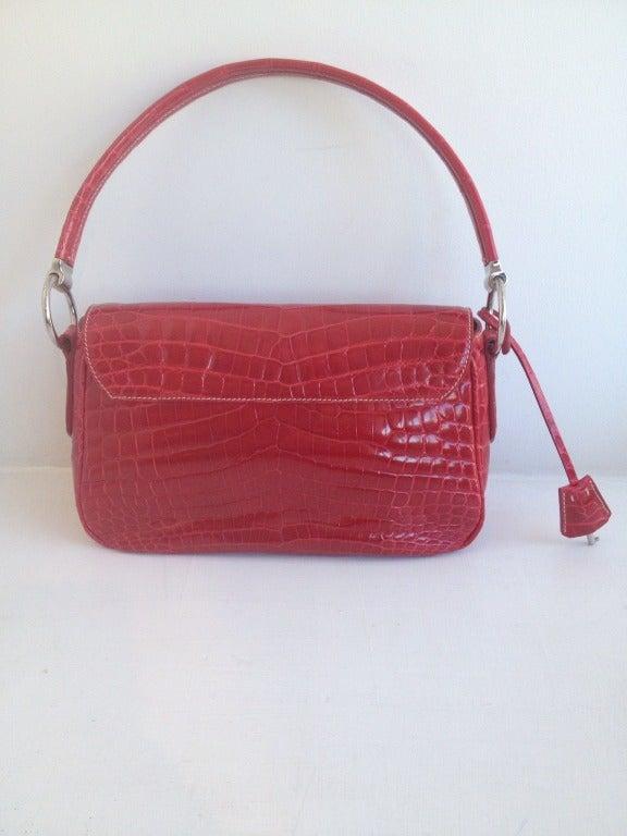 prada alligator purse