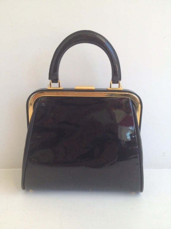 Christian Dior Leopard Print and Patent Handbag 3