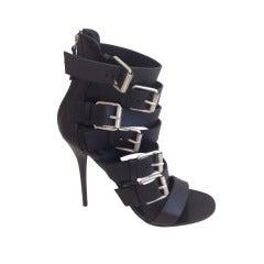 37b837694753a Giuseppe Zanotti Peeptoe Platform Shoe Art Deco Diamantes 39 / 9 New ...