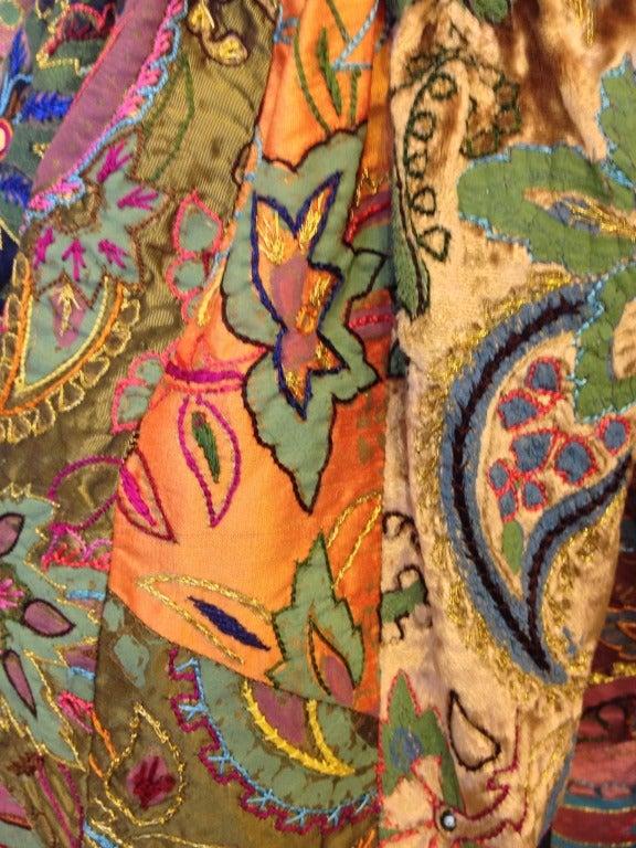 Oscar de la Renta Patchwork Paisley Gown For Sale 1