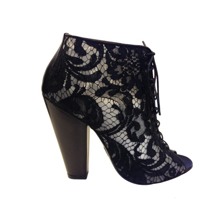 Givenchy Lace Ankle Boots 1