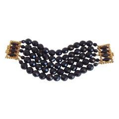 Dominique Aurientis Black Five Strand Bracelet