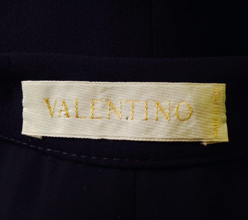 Valentino Navy Beaded Slacks 6