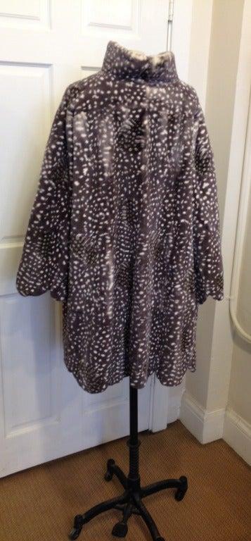 Dior Spotted Mink Coat For Sale 1