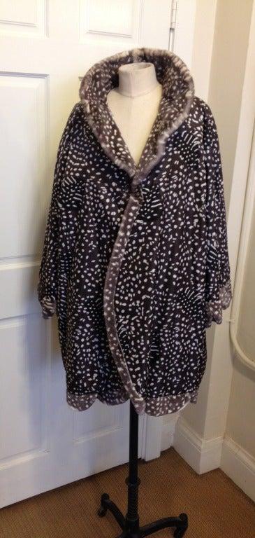 Dior Spotted Mink Coat For Sale 2