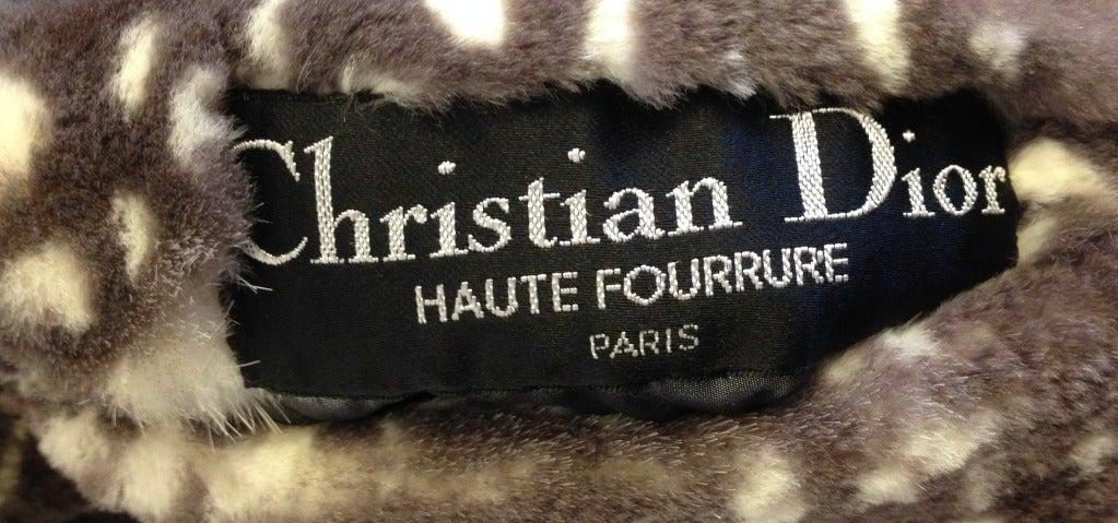 Dior Spotted Mink Coat For Sale 3